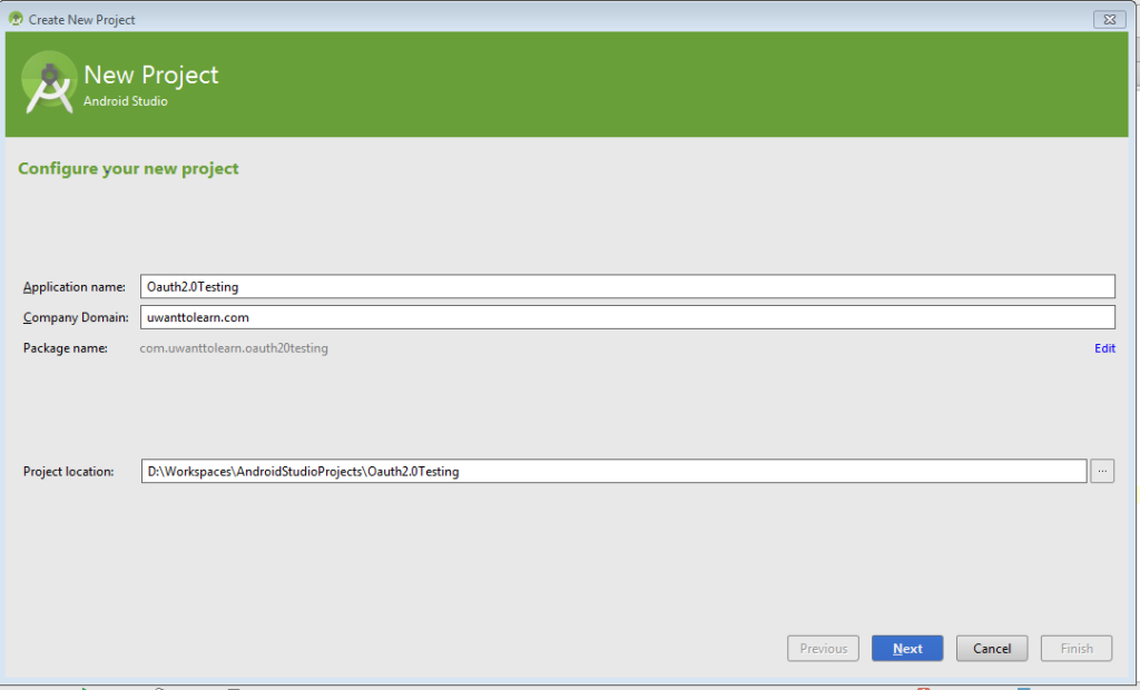 Android Studio Project.