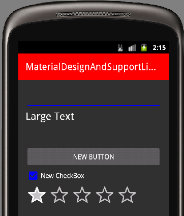 Material Palette in Android OS 2.3.3