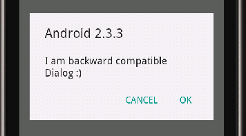 AlertDialog on Android OS 2.2