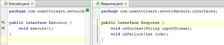 Interfaces code.