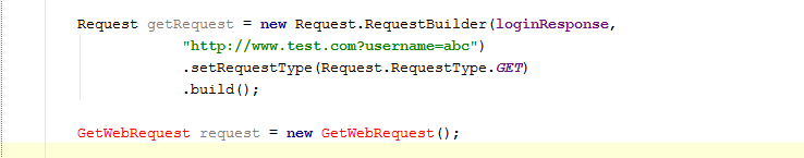 GetRequest creation code.