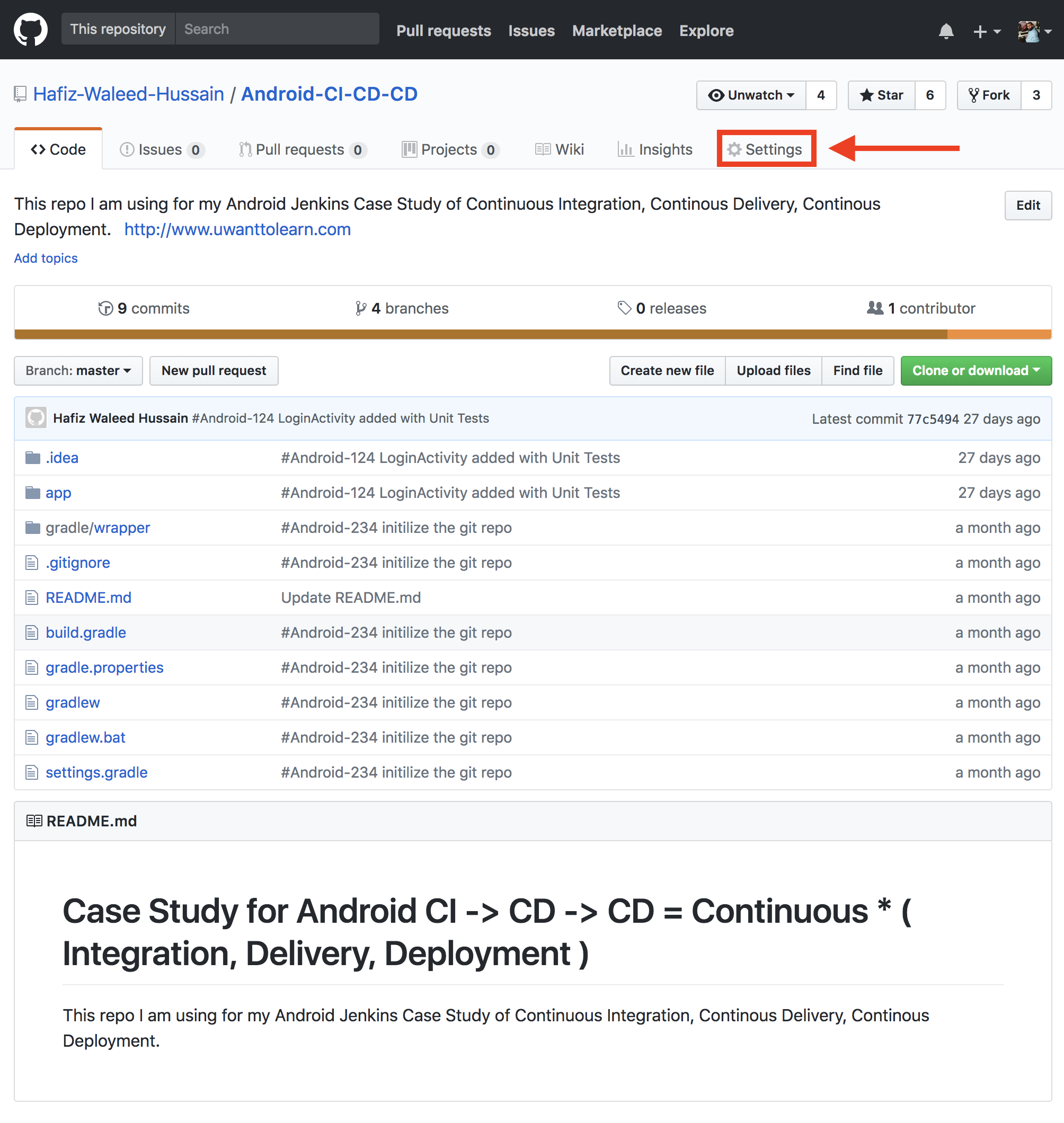 Case Study for Android CI -> CD -> CD = Continuous